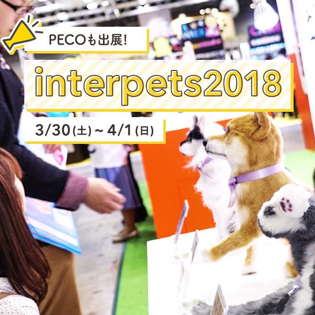 3/30〜4/1に開催された『インターペット2018』 PECOも出展した、会場の様子をお届け♪